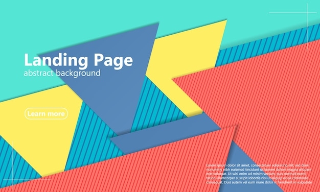 Геометрический фон. минималистичный абстрактный дизайн обложки. плакат модных цветов.