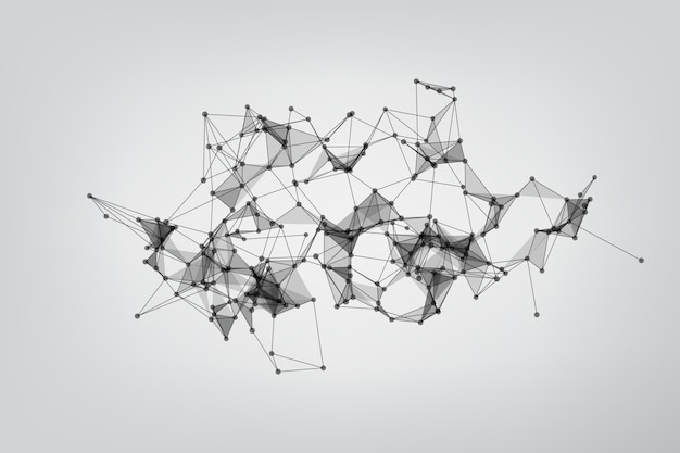 Geometric background molecule and communication. concept of the science, chemistry, biology, medicine. background technology connecting dots and line.
