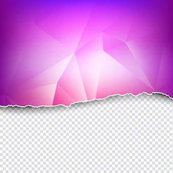 Geometric background ripped paper style