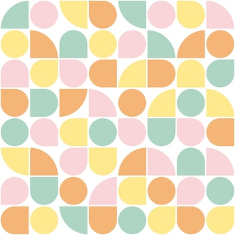 Geometric background seamless pattern with bright ornament and nude color