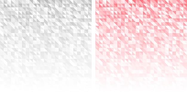 幾何学的な背景セット。三角形のパターン。黄色とターコイズ色。グラデーションテクスチャ。ベクトルイラスト。