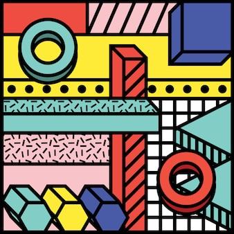 Geometric background shape