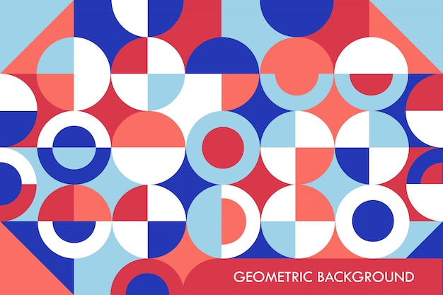 Geometric background shapes