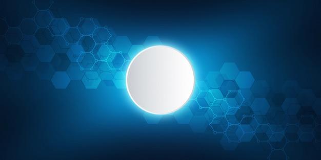 分子構造と化学工学の幾何学的な背景テクスチャ。