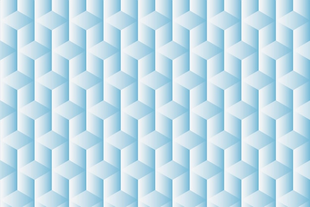 Geometric background vector in blue cube patterns