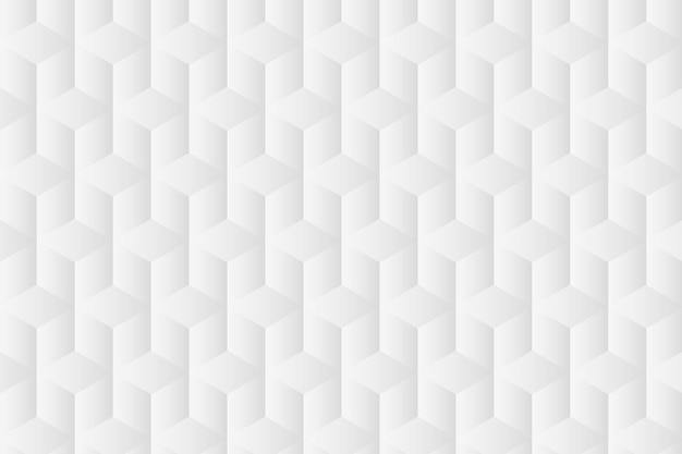 Geometric background vector in white cube patterns