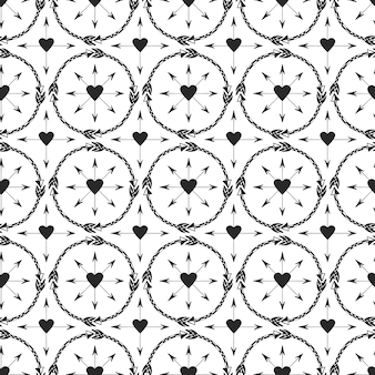 Geometric background with arrows ornament. print design in ethnic style. tribal arrows seamless vector pattern.