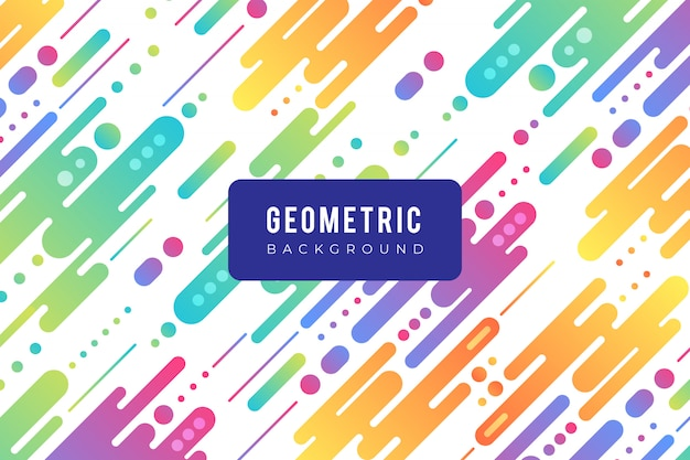 Geometric background with colorful shapes in flat design