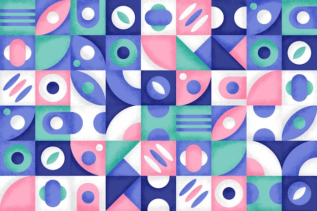 Geometric background with colorful shapes