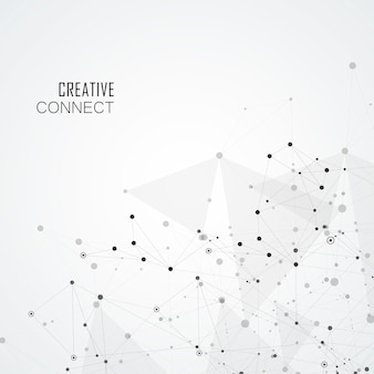 接続された抽象的な形の幾何学的な背景。モダンな背景