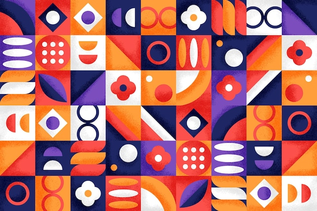Geometric background with different shapes