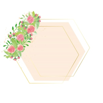 Geometric background with flowers