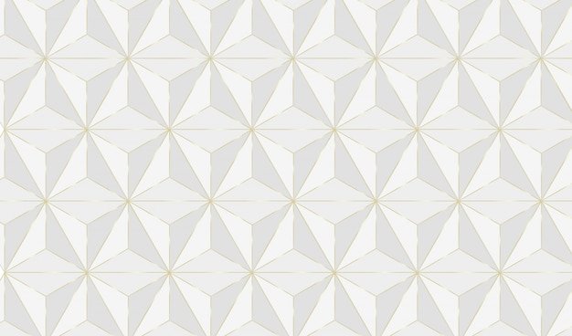 Geometric background with golden lines