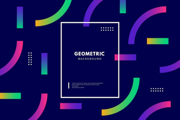 Geometric background with gradient shapes