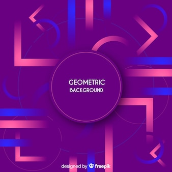 Geometric background with gradients