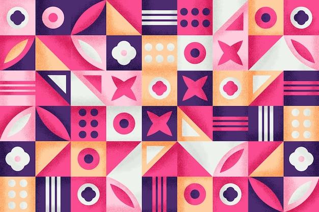 木目テクスチャと幾何学的な背景