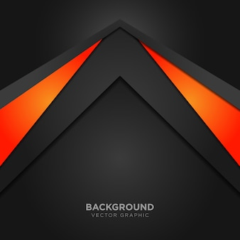Geometric background with orange details