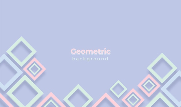 Geometric background with pastel colors