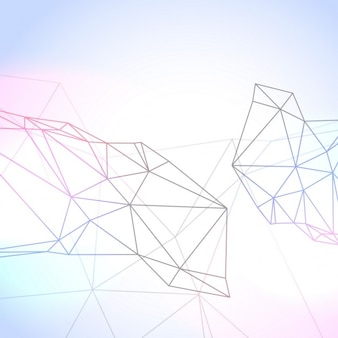 Geometric background with polygonal lines