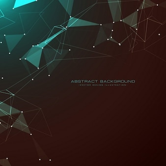 Geometric background with polygonal shapes, dots and lines
