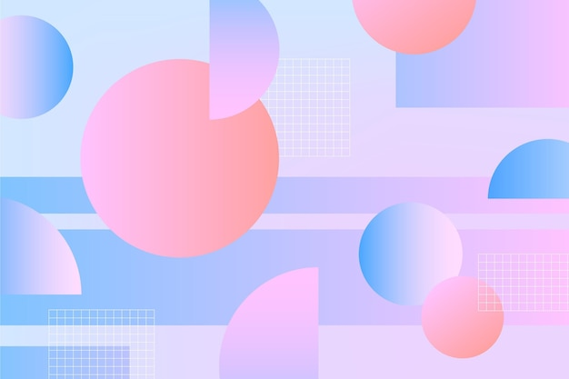 Geometric background with shapes
