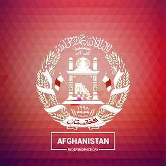 Geometric background with the symbol of afghanistan