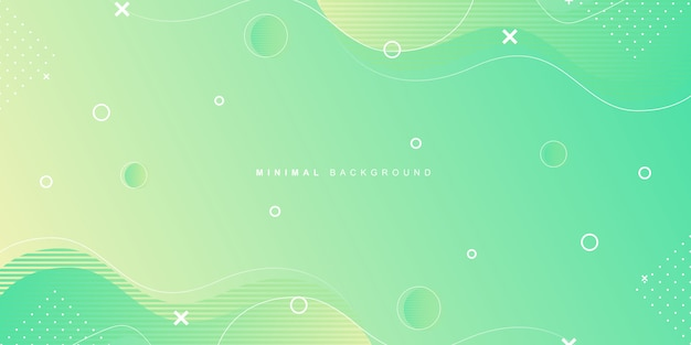 Geometric background with vibrant minimal shape