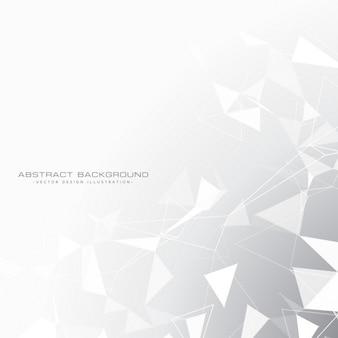 Sfondo grigio astratto con triangoli in bianco