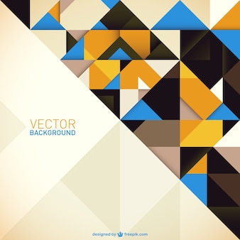 Geometric background with yellow and blue triangles