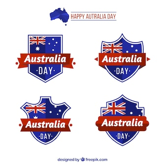 オーストラリアの日の準備ができて幾何学バッジ