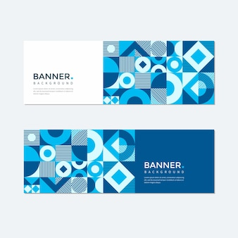 Geometric banner background set