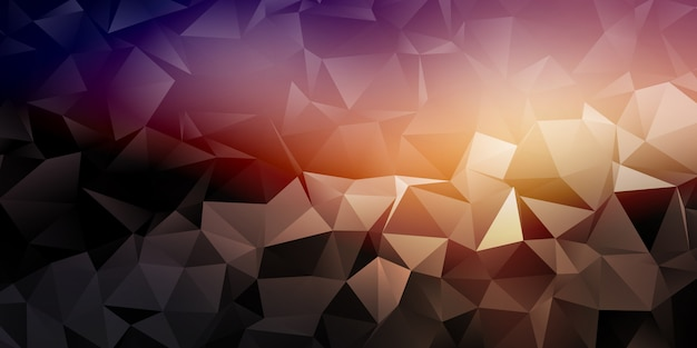 Geometric banner with low poly design
