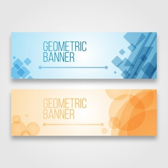 Geometric banners design