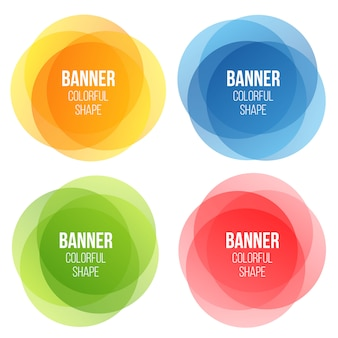Geometric banners set