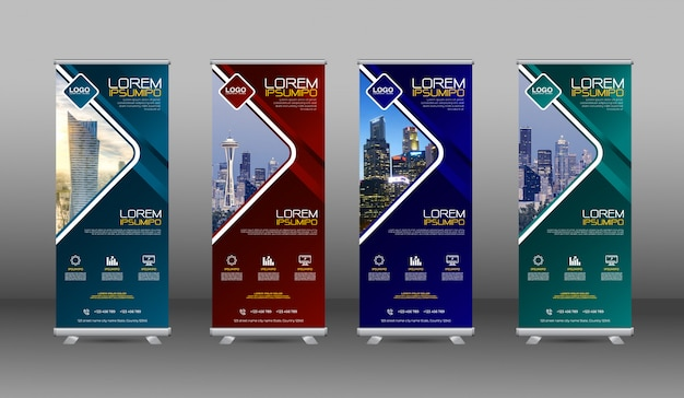 Geometric banners template design