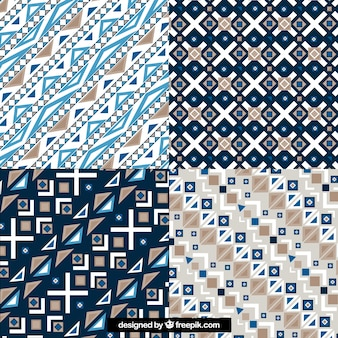 Geometric batik patterns