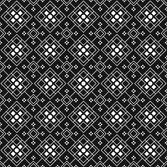 Geometric batik seamless pattern background.