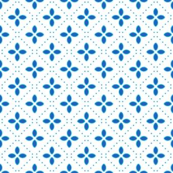 幾何学的なバティックのシームレスなパターンパターン背景。クラシックな生地の壁紙。エレガントなエスニック装飾