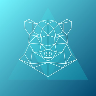 Geometric bear illustration.