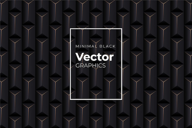 Geometric black abstract background