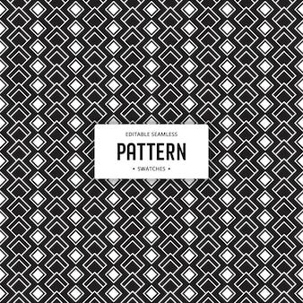 기하학적 인 흑백 원활한 편집 가능한 패턴 배경
