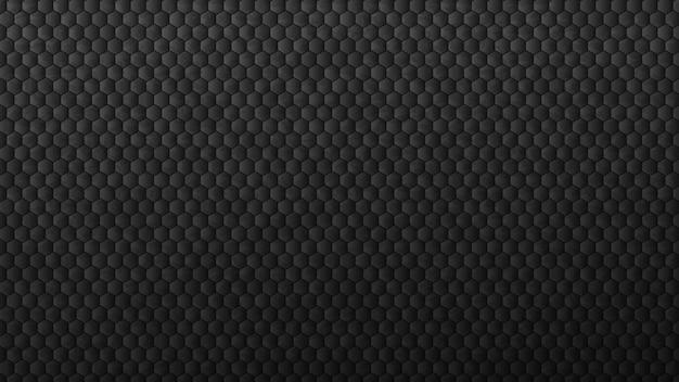 Geometric black gradient hexagons background