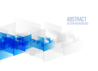 Geometric blue abstract shapes on white background