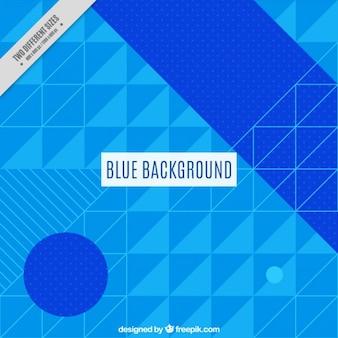 幾何学的な青色の背景