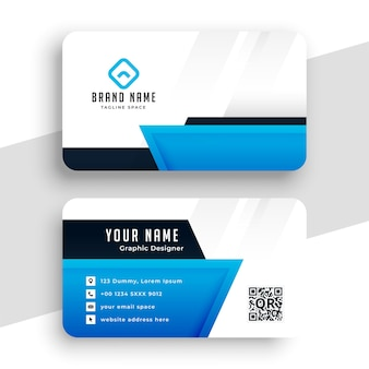 Geometric blue business card professional design