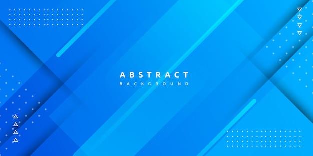 Геометрический синий цвет с красочным градиентом и полосатым фоном