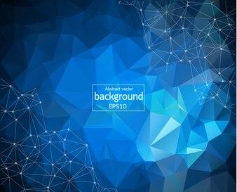 Geometric Blue Dark Polygonal background