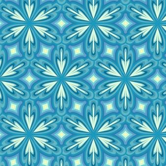 기하학적 블루 그루비 패턴