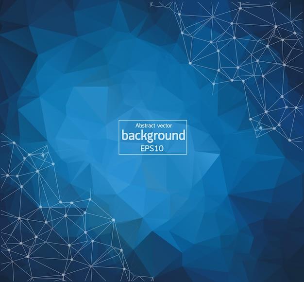 Geometric blue light polygonal background