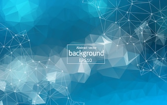 Geometric Blue Polygonal background